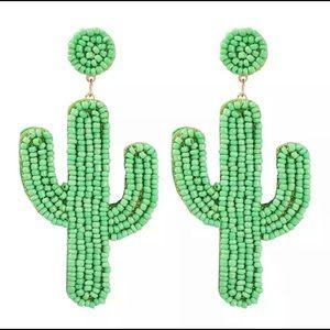 Jewelry - Handmade beaded cactus earrings